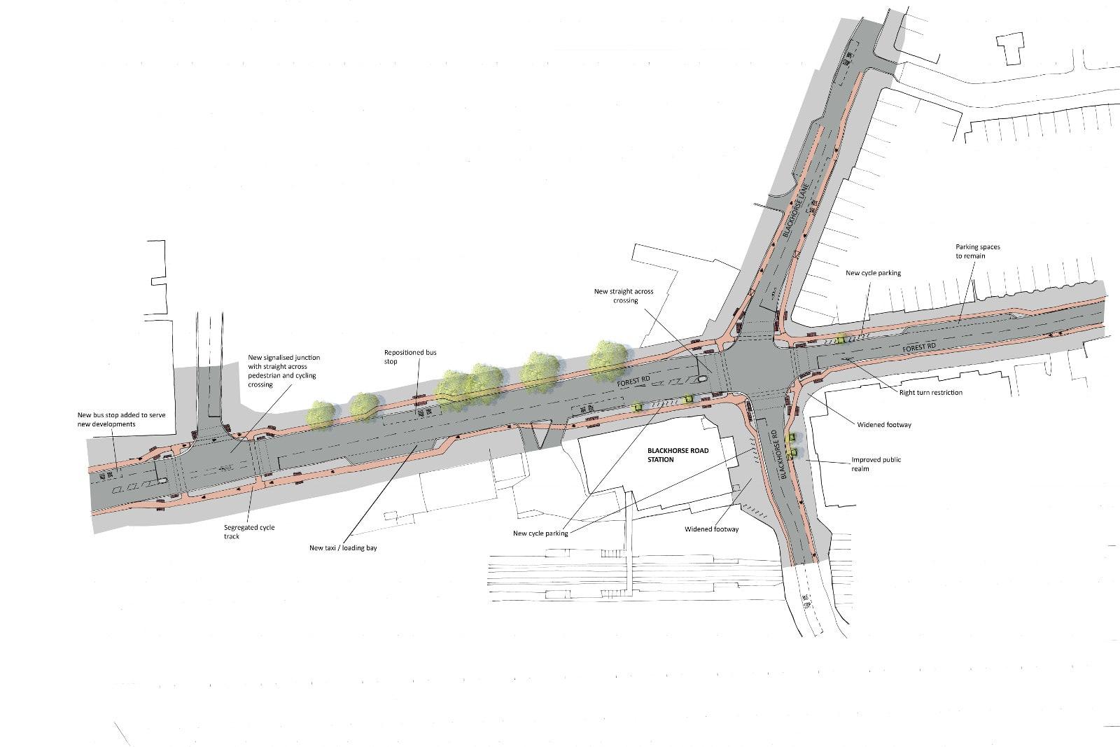 Forest Road Blackhorse Junction Consultation Cyclescape Beam Bridge Diagram