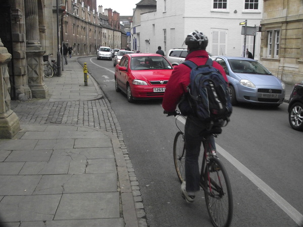 The photo for Cycle lane infringement on Pembroke Street and Downing Street.